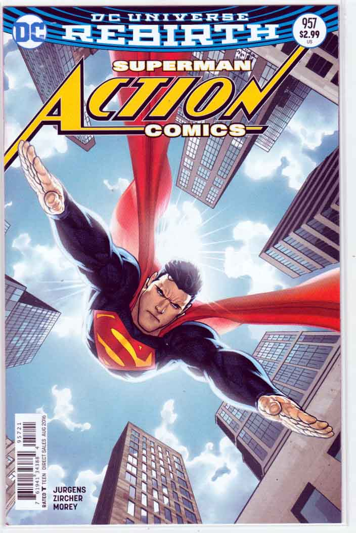 ACTION COMICS #957  Variant Ryan Sook Cover, Pencils by Patrick Zircher and Dan Jurgens Story