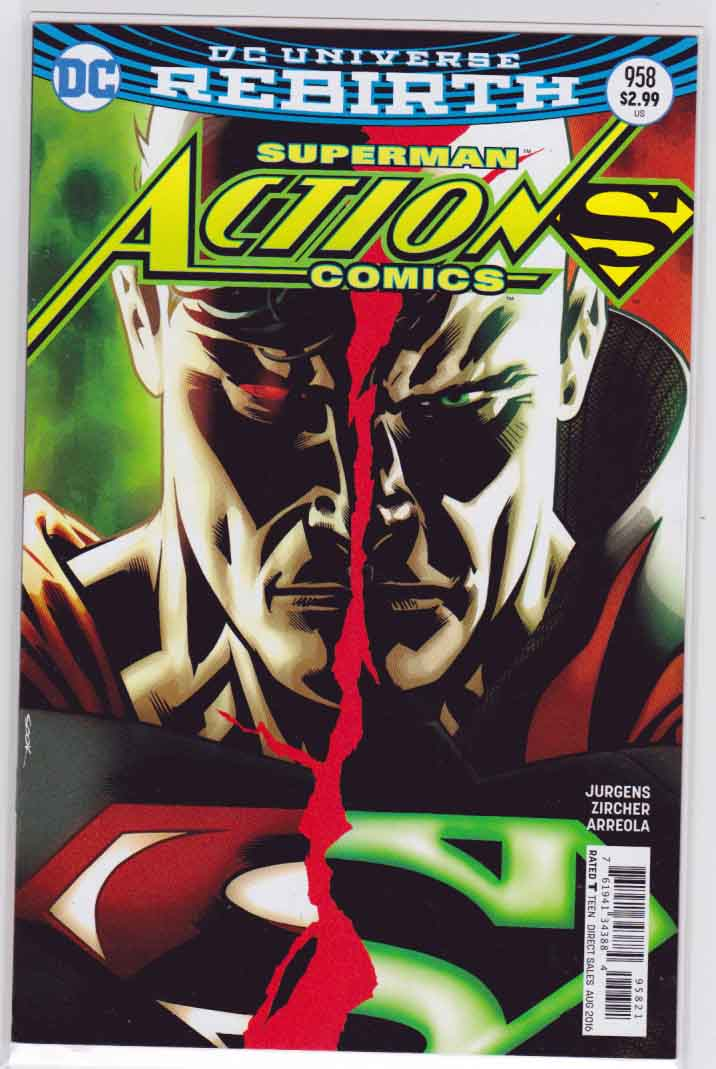 ACTION COMICS #958  Variant Ryan Sook Cover , Pencils by Patrick Zircher and Dan Jurgens Story