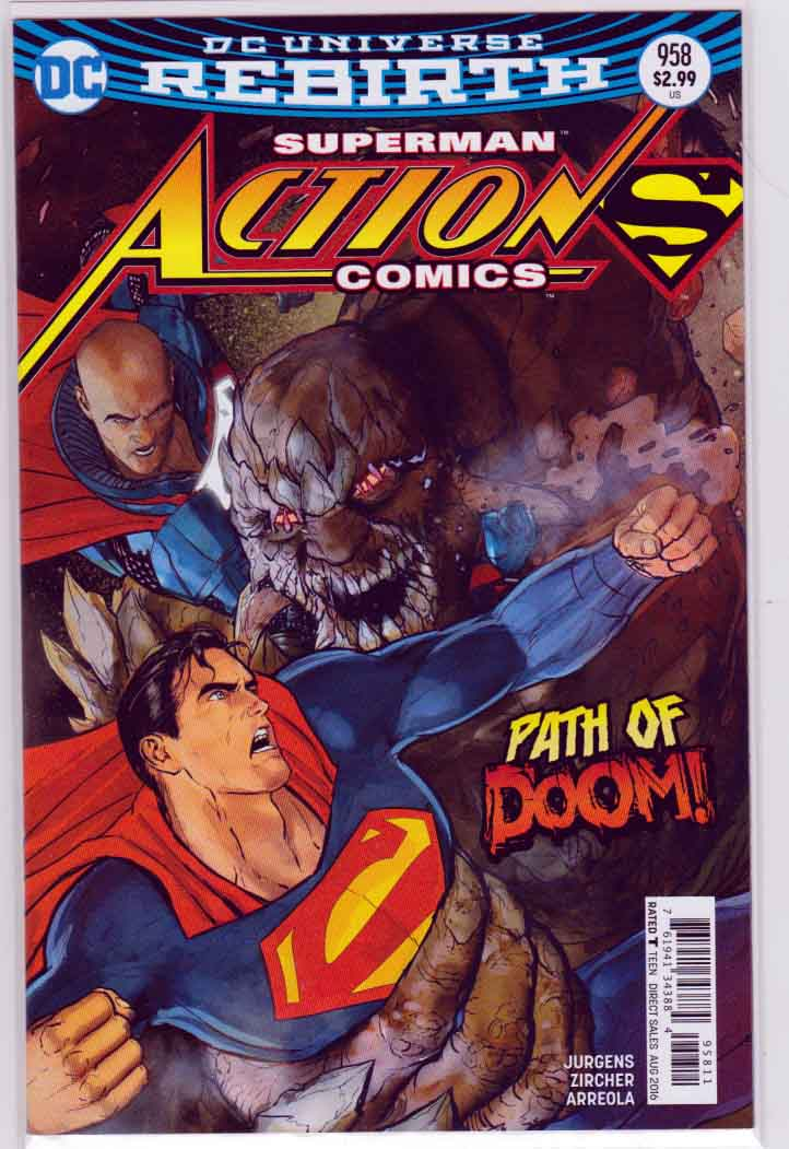 ACTION COMICS #958  Regular Mikel Janin Cover , Pencils by Patrick Zircher and Dan Jurgens Story