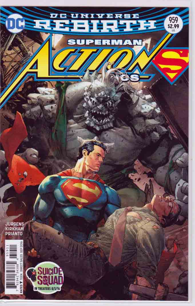 ACTION COMICS #959 Regular Clay Mann Cover  Cover , Pencils by Tyler Kirkham  and Dan Jurgens Story