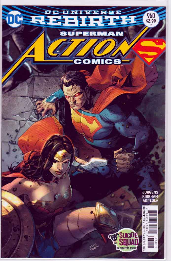ACTION COMICS #960 Regular Clay Mann Cover  Cover , Pencils by Tyler Kirkham  and Dan Jurgens Story