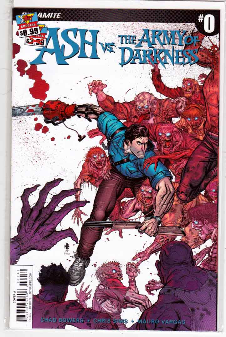 Ash vs The Army of Darkness #0 (2017) Regular Nick Bradshaw Cover,  Mauro Vargas Pencils, Chad Bowers & Chris Sims Story