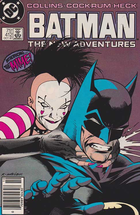 Batman #412 1st appearance of Mime / Cover art by Kevin Nowlan
