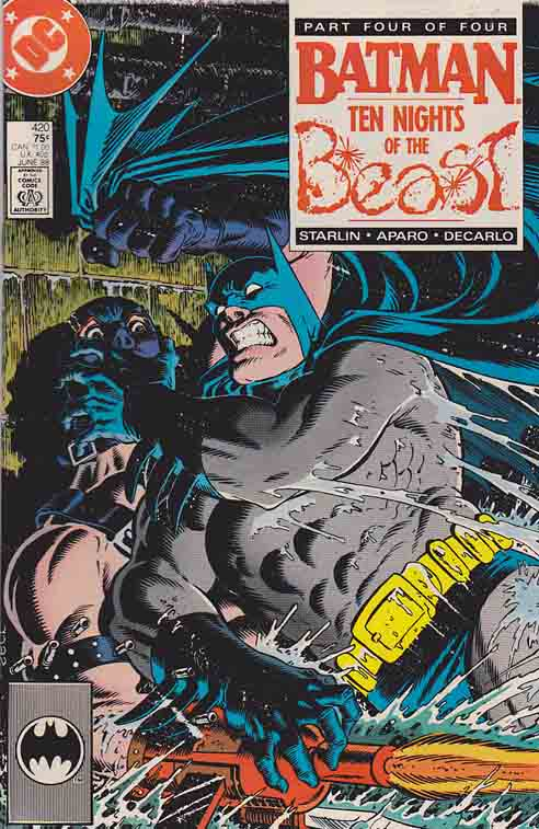 Batman #420 Ten Nights of the Beast Pt.4 / Cover art by Mike Zeck, Written by Jim Starlin & Pencils by Jim Aparo
