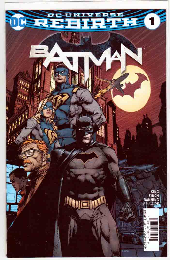 Batman #1 (2016) WalMart Variant Cover. David (Dave) Finch Pencils. Tom King Story. 1st Appearance of Gotham and Gotham Girl.