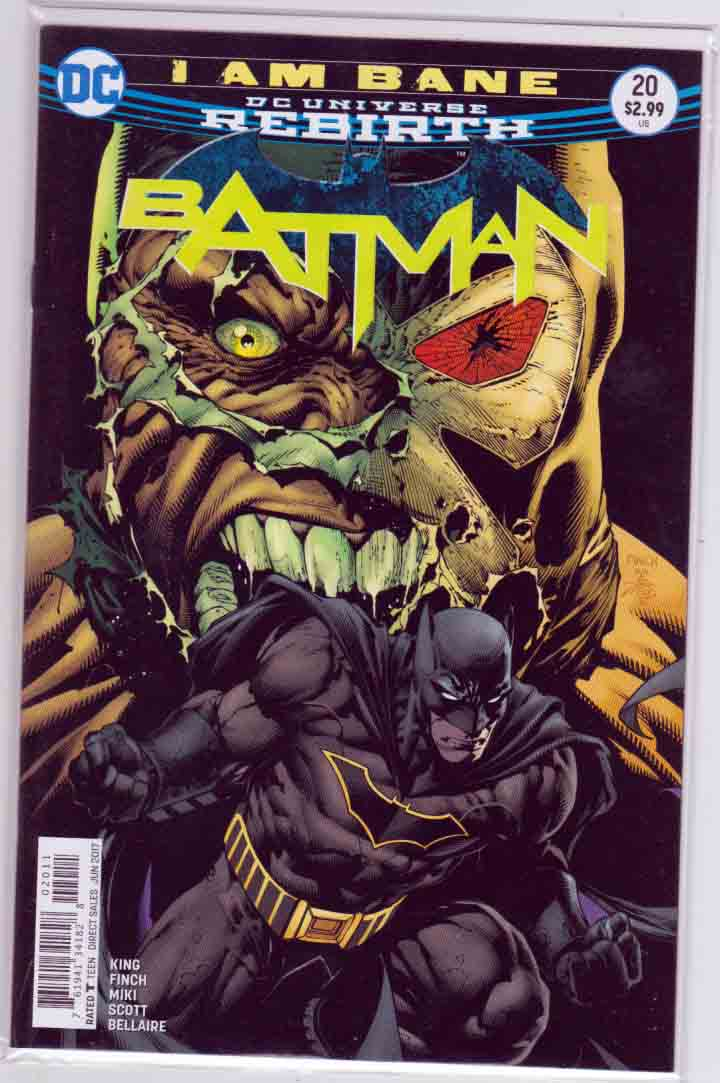 Batman #20 (2017) David Finch & Danny Miki Cover & Pencils, Tom King Story