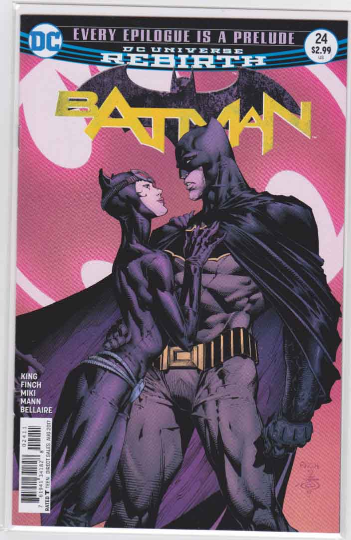 Batman #24 (2017) David Finch & Danny Miki Cover & Clay Mann Pencils, Tom King Story