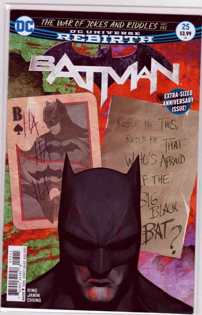 Batman #25 (2017) Mikel Janin Cover, Mikel Janin Pencils, Tom King Story
