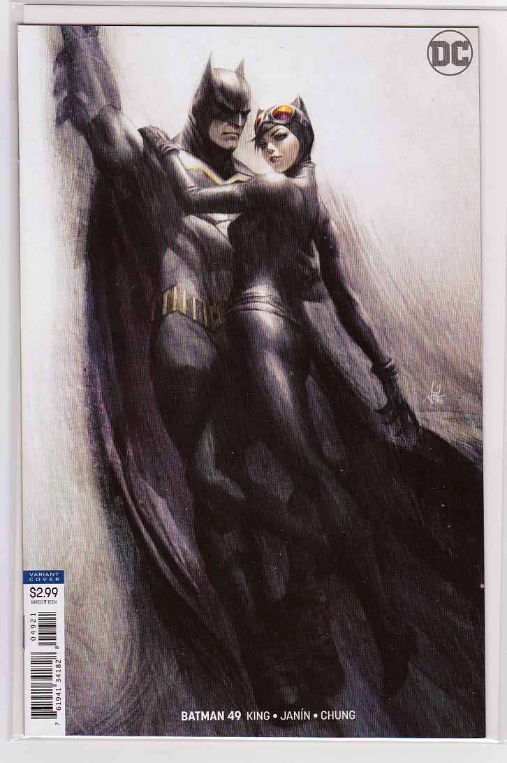 Batman #49 (2018) Variant Stanley Artgerm Lau Cover & Mikel Janin Pencils, Tom King Story