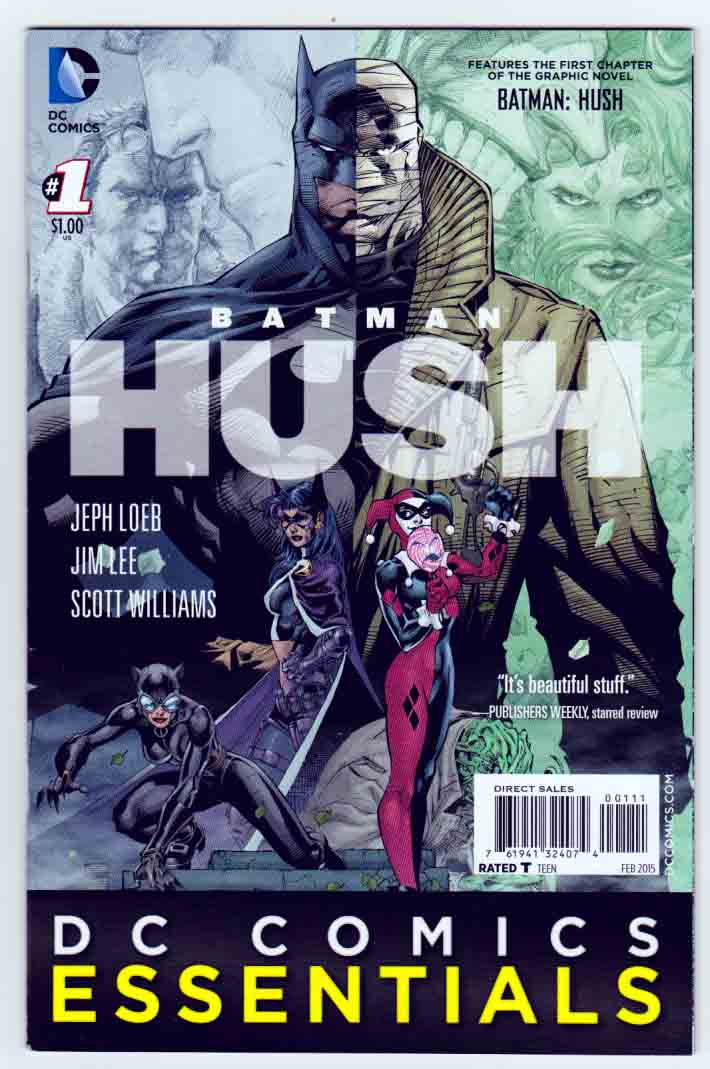 Batman Hush (2016) Jim Lee Cover. Jeph Loeb Story. Jim Lee Pencils.