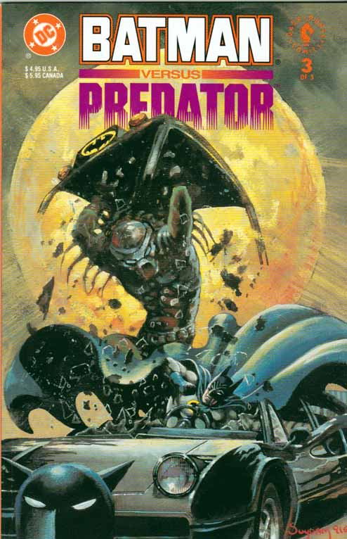 Batman vs Predator Pt.3 Variant Collector Edition Batman Cover by Arthur Suydam Story by Dave Gibbons. Andy Kubert Pencils & Inks.