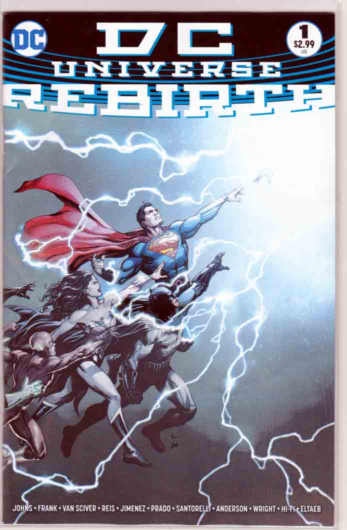 DC Universe Rebirth #1  Regular Gary Frank Cover (2016)