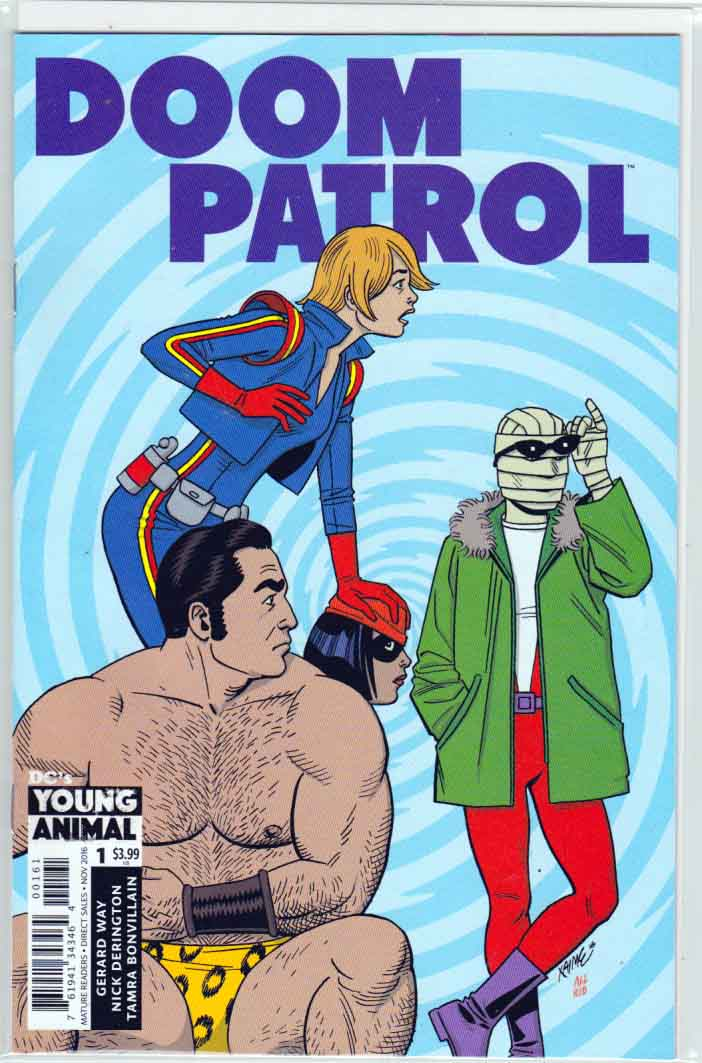Doom Patrol #1 (2016) Variant Jaime Hernandez Cover. Gerard Way Story.  Nick Derington Pencils.