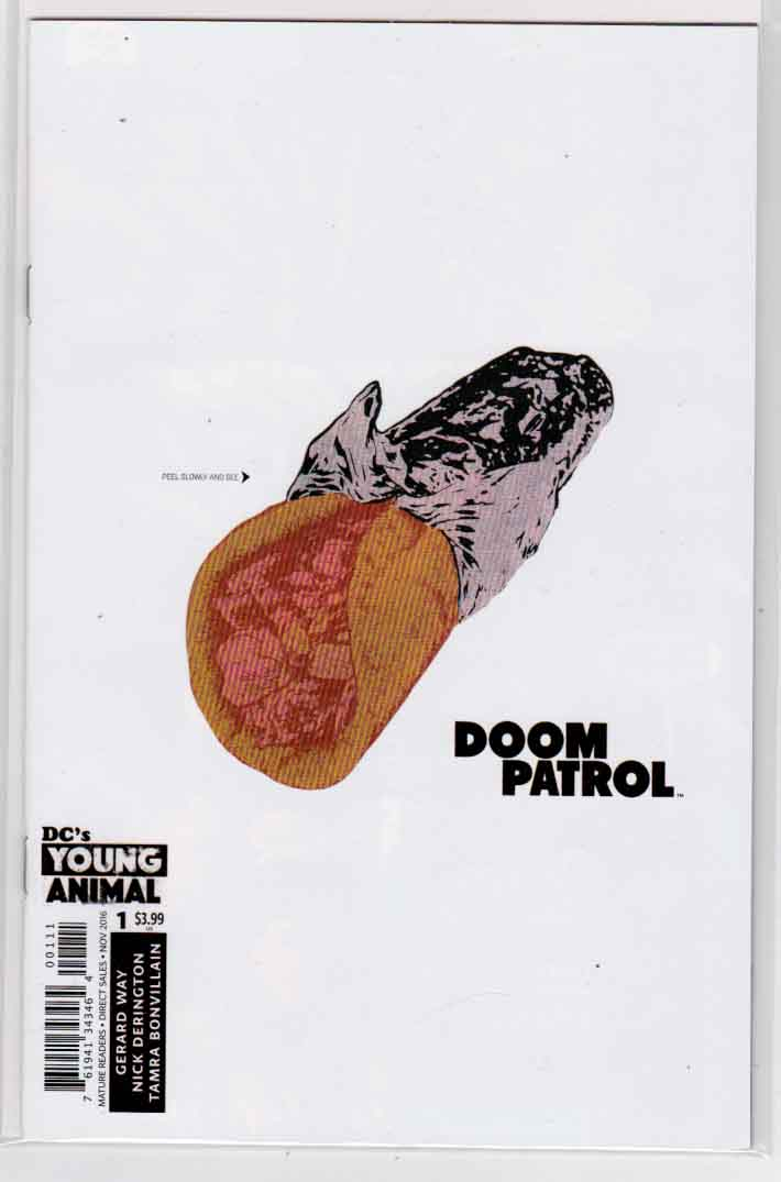 Doom Patrol #1 (2016) Regular Nick Derington Cover. Gerard Way Story.  Nick Derington Pencils.