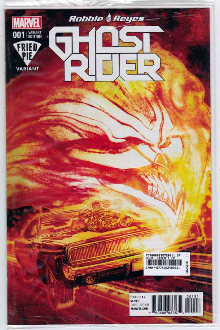 Ghost Rider #1 (2016) Bill Sienkiewicz Cover.  Felipe Smith Story. Danillo Beyruth Pencils.