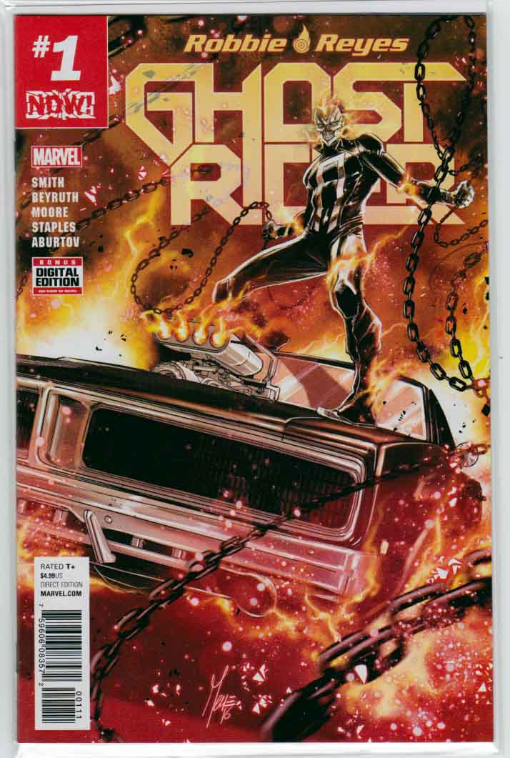 Ghost Rider #1 (2016) Marco Checchetto Cover.  Felipe Smith Story. Danillo Beyruth Pencils.