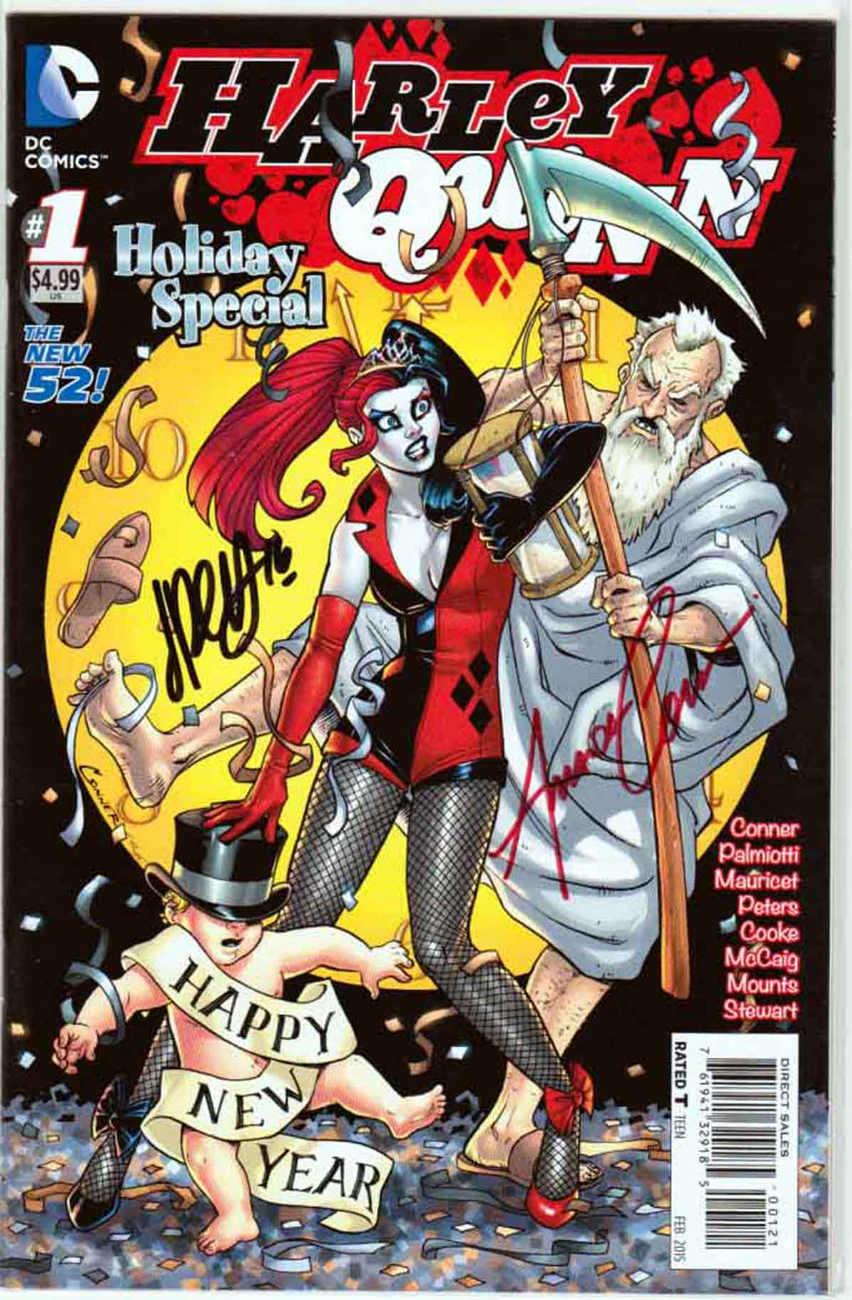 Harley Quinn Holiday Special Variant Amanda Conner New Years Eve Cover Signed By Amanda Conner And Jimmy Palmiotti (2015) DC Comics We got you a present, comics fans - a gut-busting (sometimes literally) collection of short stories featuring Harley and her special brand of holiday cheer!