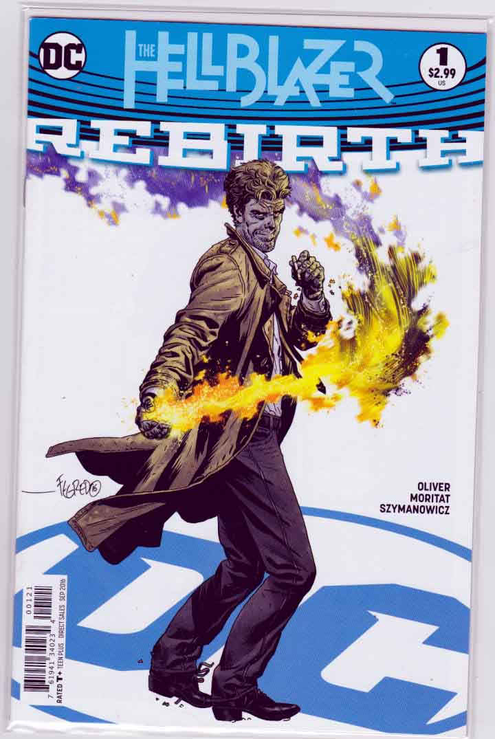 Hellblazer Rebirth #1 (2016) Variant Duncan Fegredo Cover. Simon Oliver Story. Pencils by Moritat.