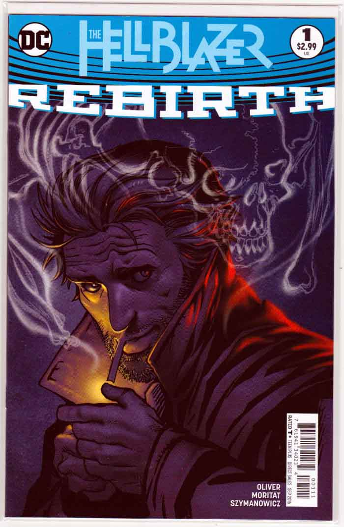 Hellblazer Rebirth #1 (2016) Regular Moritat Cover. Simon Oliver Story. Pencils by Moritat.