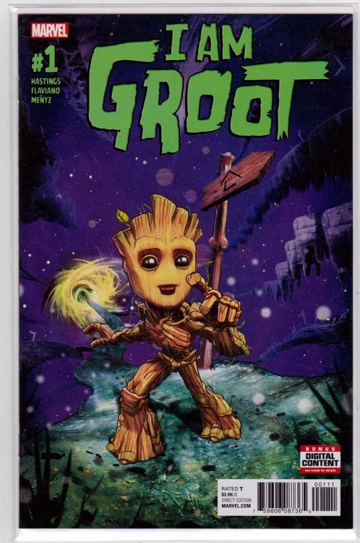 I Am Groot #1 (2017) Marco D'Alfonso Cover, Christopher Hastings Story, Art by Flaviano