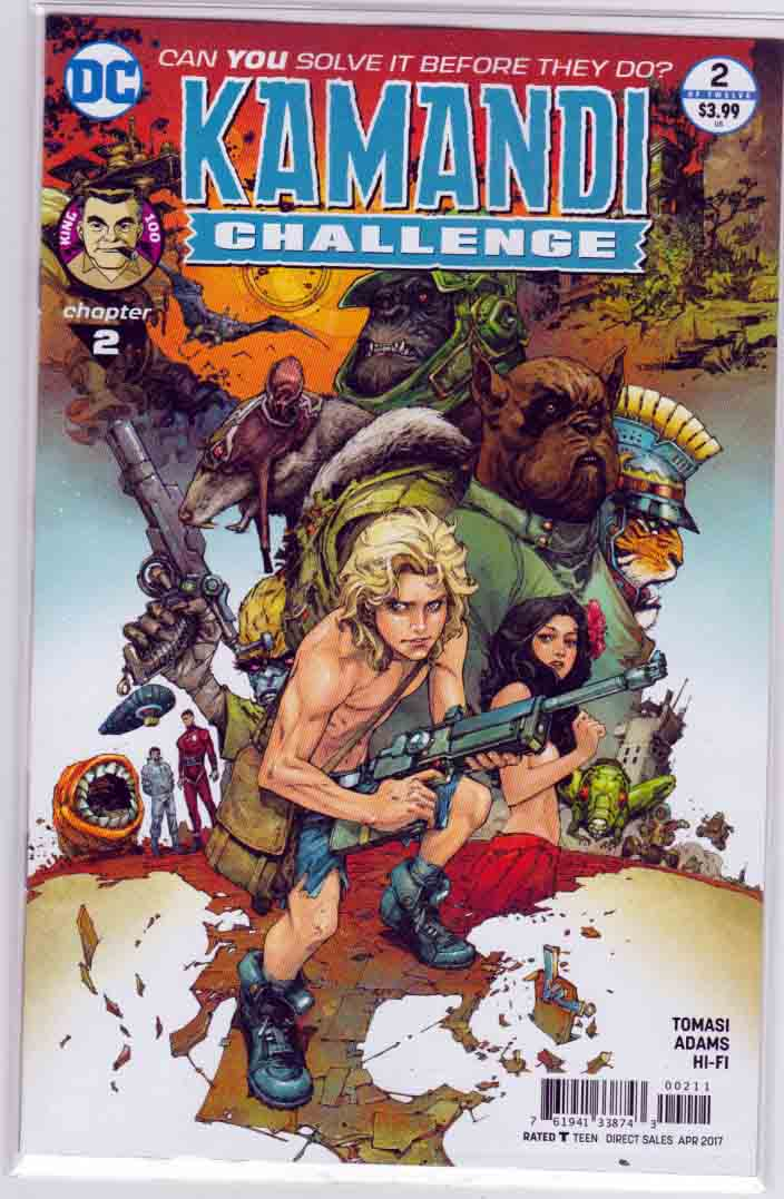 Kamandi Challenge #2 (2017) Neal Adams Cover.  Peter J. Tomasi Story. Neal Adams  Pencils.