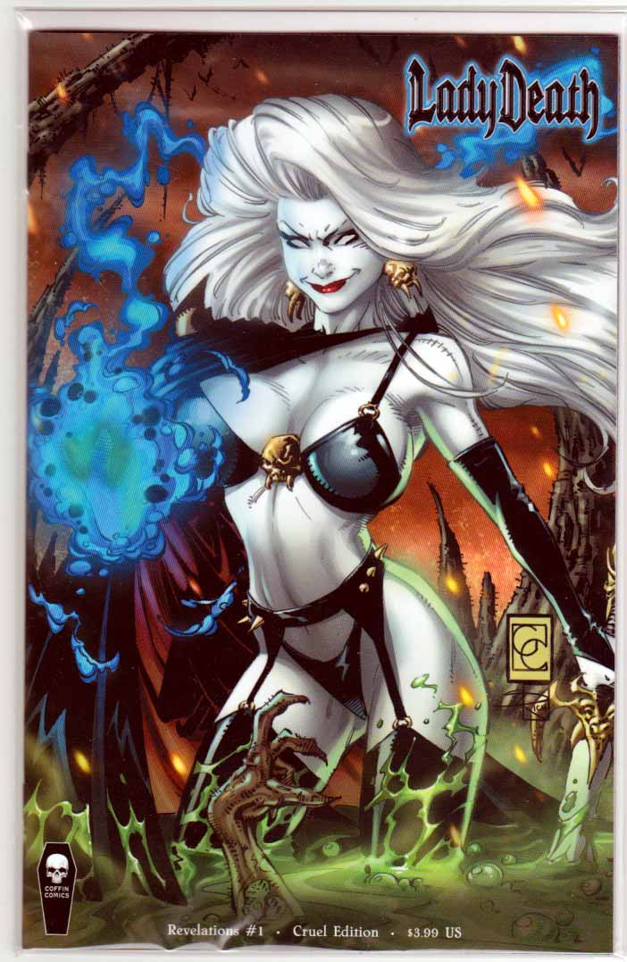 Lady Death Revelations  Illustrated #1 (2017) Variant Greg Capullo Cruel Cover.  Brian Pulido Story. Mike DeBalfo Pencils.