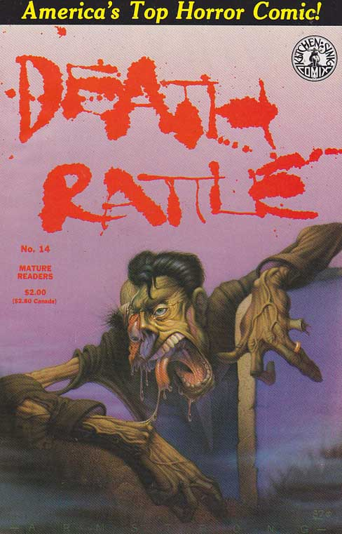Death Rattle #14 / Pencils by Dean Armstrong