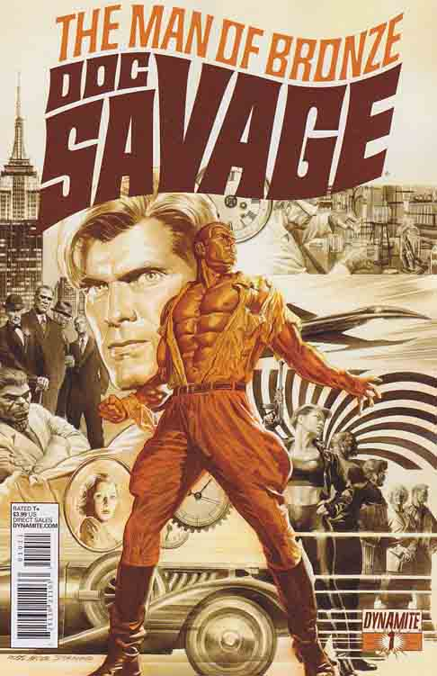 Doc Savage (Man of Bronze) #1 / In 1933, readers were first introduced to Doc Savage, the Man of Bronze. Raised from the cradle to be the pinnacle of mental and physical perfection, Doc Savage travels the world using science and sinews to right wrongs, aid the oppressed, and liberate the innocent Alex Ross Cover