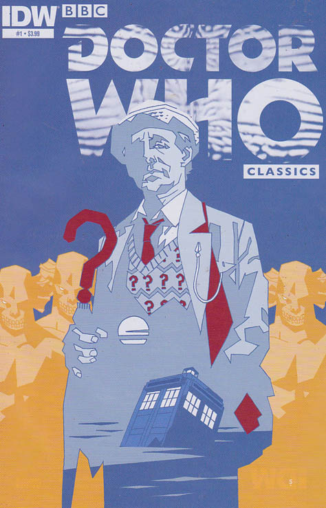 Doctor Who Classics #1 / Doctor Who Classics is back! This new series presents strips never before reprinted, and in color for the very first time! In this inaugural issue, enjoy two complete stories featuring the Seventh Doctor, 'Time and Tide' and 'Follow That TARDIS!' by such luminaries as Richard Starkings, Andy Lanning, and Dougie Braithwaite!
