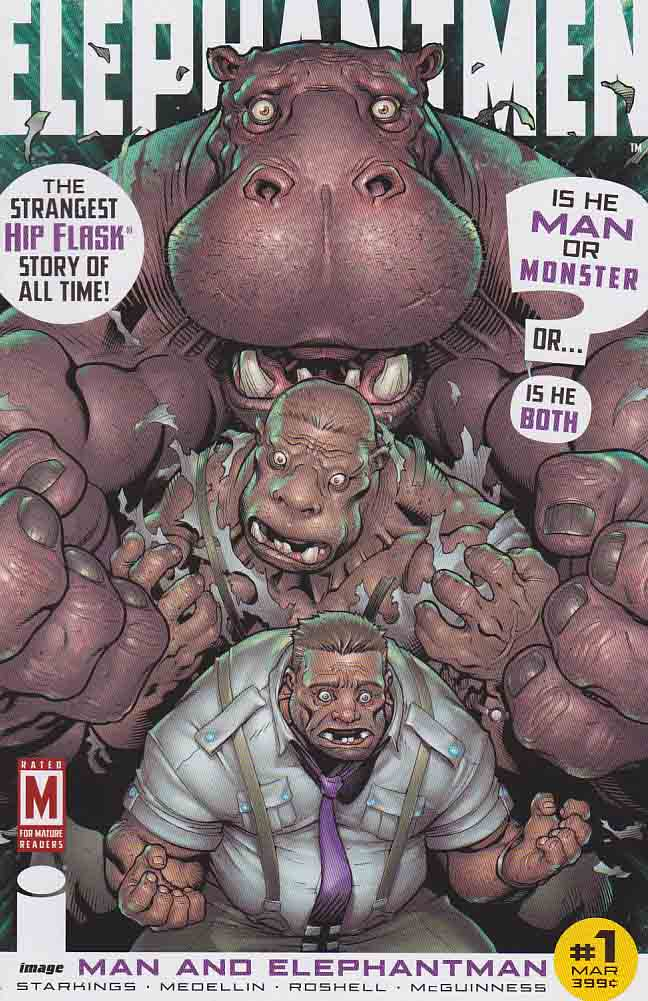Elephantmen Man and Elephantman 1b Incentive J Scott Campbell Variant Cover. Elephantmen is an American ongoing monthly comic book published by Image Comics and written by Richard Starkings with art by Moritat and a number of other artists. Issue #1 was released in July 2006.