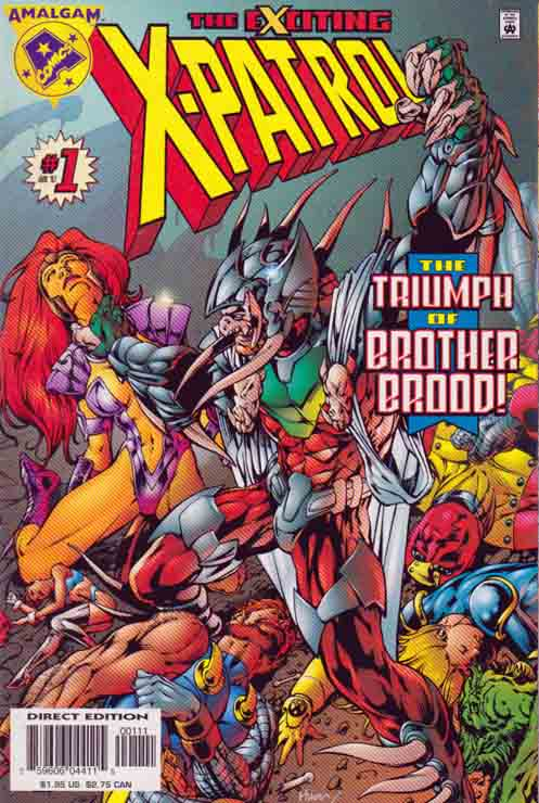 Exciting X-Patrol Bryan Hitch Cover and pencils / Story by Barbara Randall-Kesel The story starts of with Shatterstarfire and Niles Cable battling againts the Broodlings. Shatterstarfire and Niles fight onwards valiantly and bravely but the creatures continue on to be too strong and too many. Niles says to Shatterstarfire to abandon the battle and go to the X-patrol.