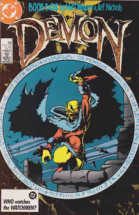 Demon Mini Series 1987 #1 / Direction From The Darkness / Matt Wagner Scripts - Pencils - Cover Art