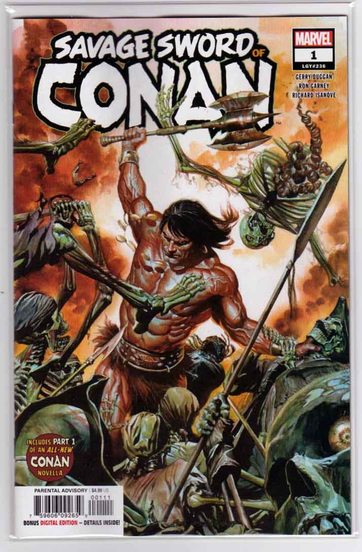 Savage Sword Of Conan #1 (2019) Marvel Comics Alex Ross Cover & Ron
