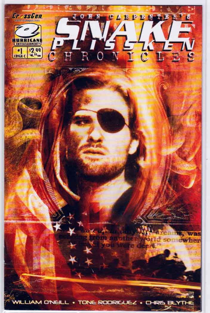 Snake Plissken Chronicles #1 (2003) Travis Smith Variant Cover. Art by Tone Rodriguez. Story by William O'Neill.