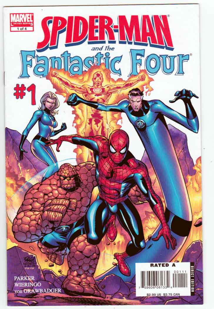 Spider-Man and the Fantastic Four #1 Karl Kesel Cover. Jeff Parker Story. Mike Wieringo Pencils And Cover Art.