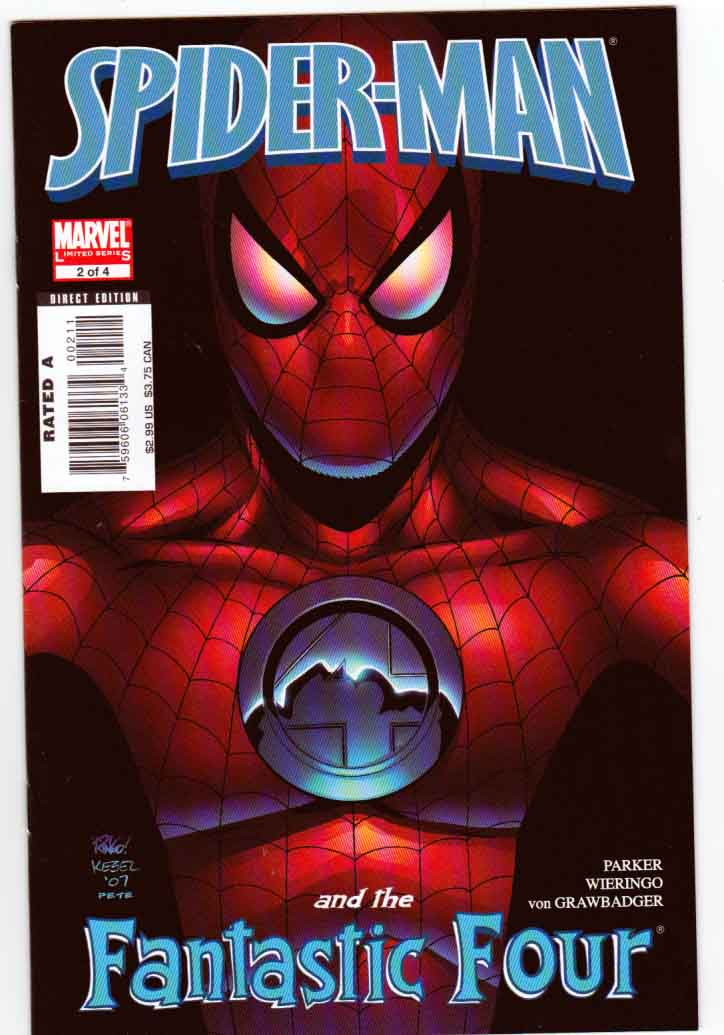 Spider-Man and the Fantastic Four #2 Karl Kesel Cover. Jeff Parker Story. Mike Wieringo Pencils And Cover Art.