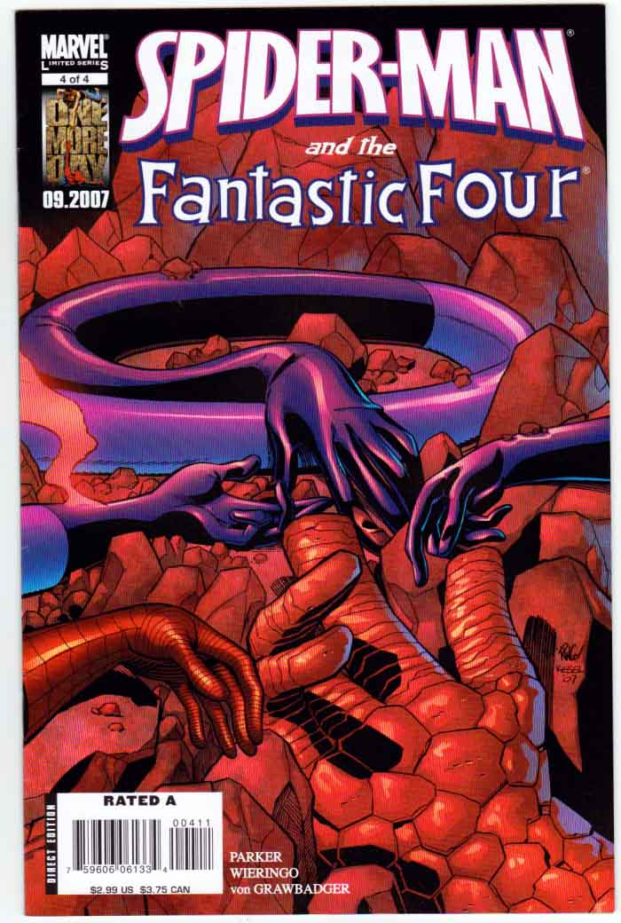 Spider-Man and the Fantastic Four #4 Karl Kesel Cover. Jeff Parker Story. Mike Wieringo Pencils And Cover Art.