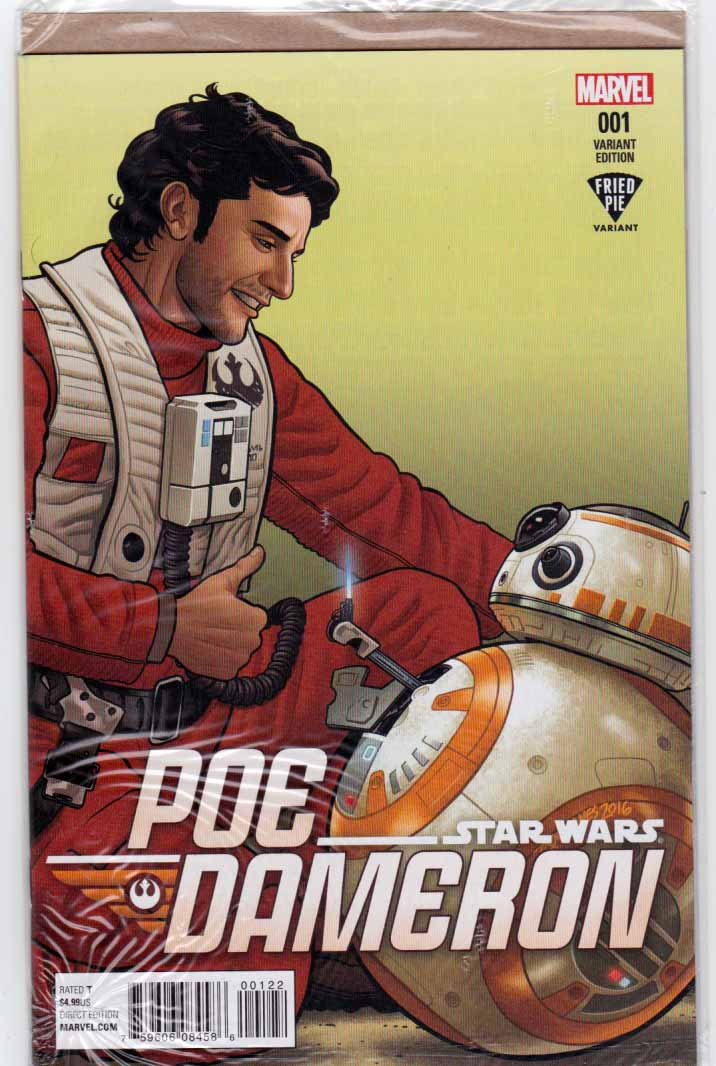 Star Wars Poe Dameron #1 Fried Pie Variant. 1st Appearance of General Leia Organa in Comic Books. Charles Soule Story. Pencils by Phil Noto. 1st Appearance of Poe Dameron.