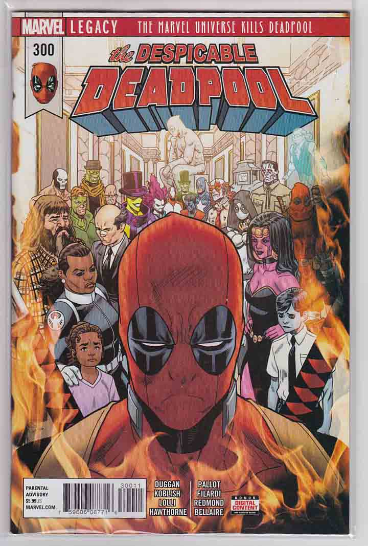 The Despicable Deadpool #300 (2018) Mike Hawthorne Cover & Pencils, Gerry Duggan Story