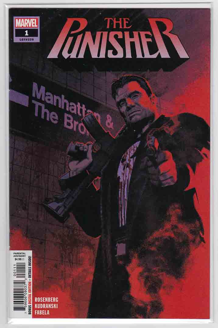 The Punisher #1 (2018) Greg Smallwood Cover &  Szymon Kudranski Pencils,  Matthew Rosenberg Story
