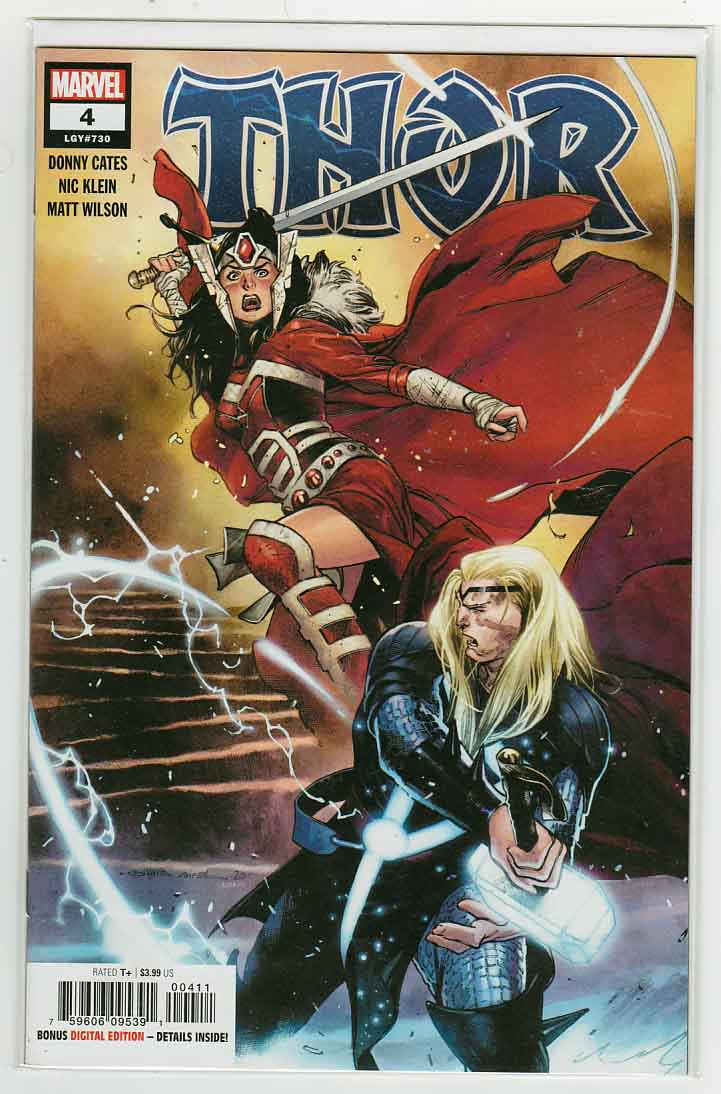 Thor #4 (2020) Olivier Coipel Cover & Nic Klein Pencils, Donny Cates Story, 1st Cameo Appearance of Black Winter