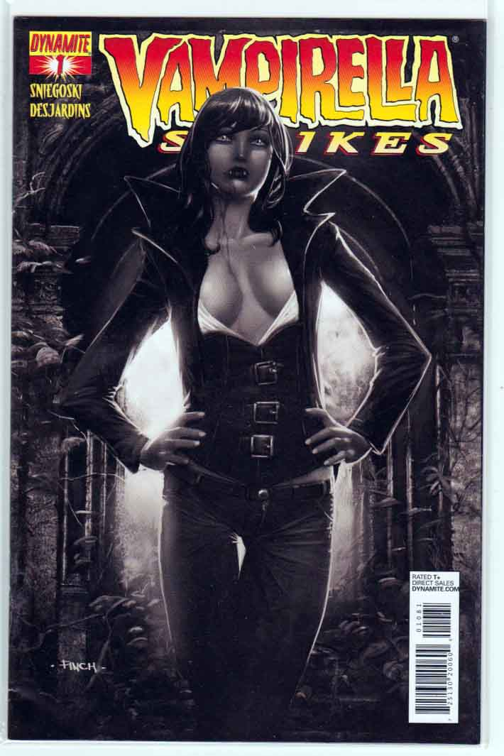 Vampirella Strikes #1 (2013)  David Finch Cover.  Tom Sniegoski Story. Johnny Desjardins Pencils.