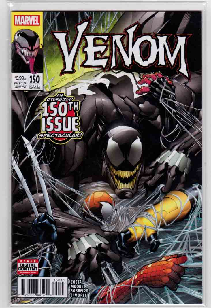 Venom #150 (2017) Gerardo Sandoval Cover. Mike Costa Story. Gerardo Sandoval & Ron Lim Pencils. Giant Size Heart of Darkness Dependance Day Malled!