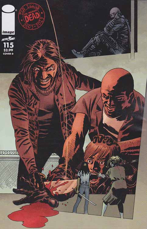 Walking Dead #115 C Cover. ALL-OUT WAR BEGINS! The biggest storyline in WALKING DEAD history - just in time to celebrate the 10th anniversary of the series! It's Rick versus Negan with a little help from everyone else! Charlie Adlard Standard Cover