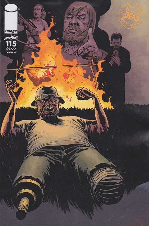 Walking Dead #115 G Cover. ALL-OUT WAR BEGINS! The biggest storyline in WALKING DEAD history - just in time to celebrate the 10th anniversary of the series! It's Rick versus Negan with a little help from everyone else! Charlie Adlard Standard Cover