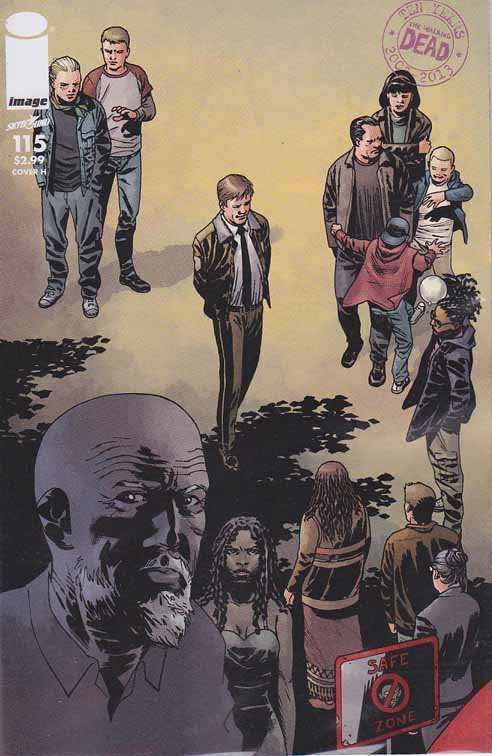 Walking Dead #115 H Cover. ALL-OUT WAR BEGINS! The biggest storyline in WALKING DEAD history - just in time to celebrate the 10th anniversary of the series! It's Rick versus Negan with a little help from everyone else! Charlie Adlard Standard Cover