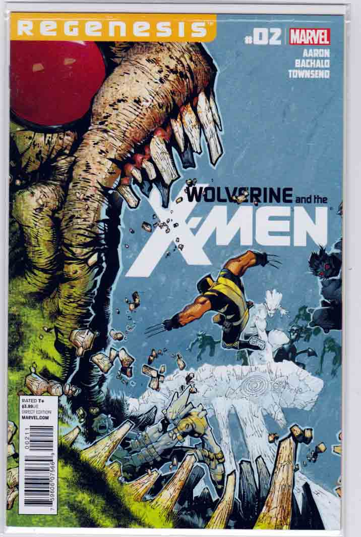 Wolverine and the X-Men #2 (2011) Regular Chris Bachalo Cover. Jason Aaron Story. Chris Bachalo Pencils.